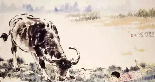 徐悲鸿画的牛也是一绝!