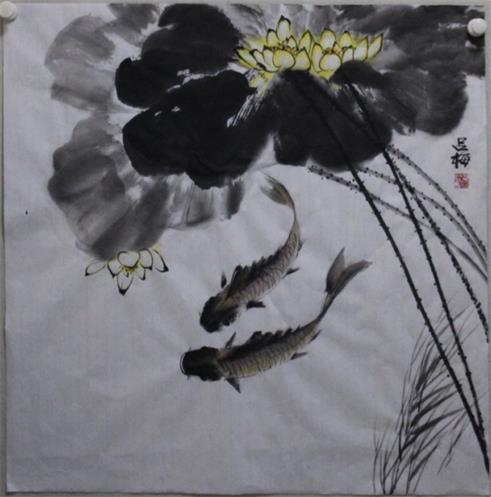 吕梅国画作品欣赏